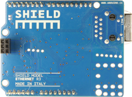Arduino Ethernet Shield R3 Back