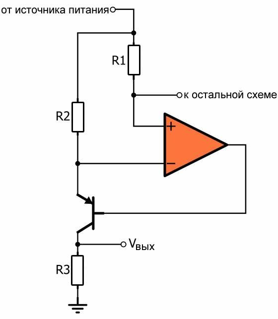 Преобразователь тока в напряжение. Схема электрическая принципиальная