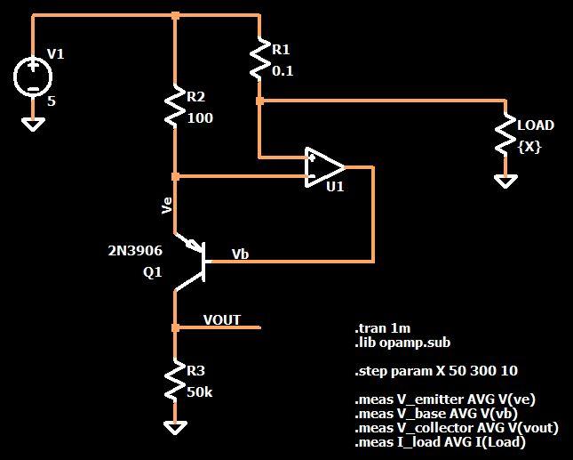Преобразователь тока в напряжение. Схема в LTspice