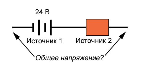Рисунок 5 Полярность источника 24 В