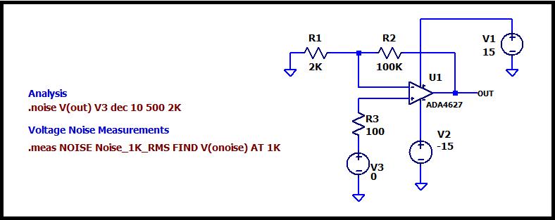 Рисунок 6 Тестовая схема в LTspice